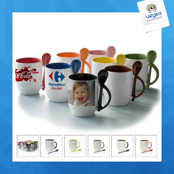 Mug bicolore cuillère express 48h