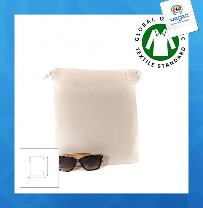 Organic cotton pouch 25x30cm express 48 hours