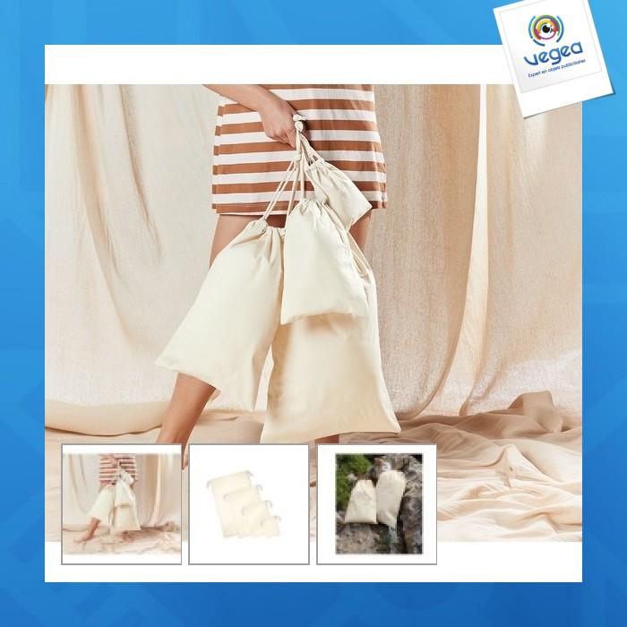 Organic cotton pouch s 23x34cm