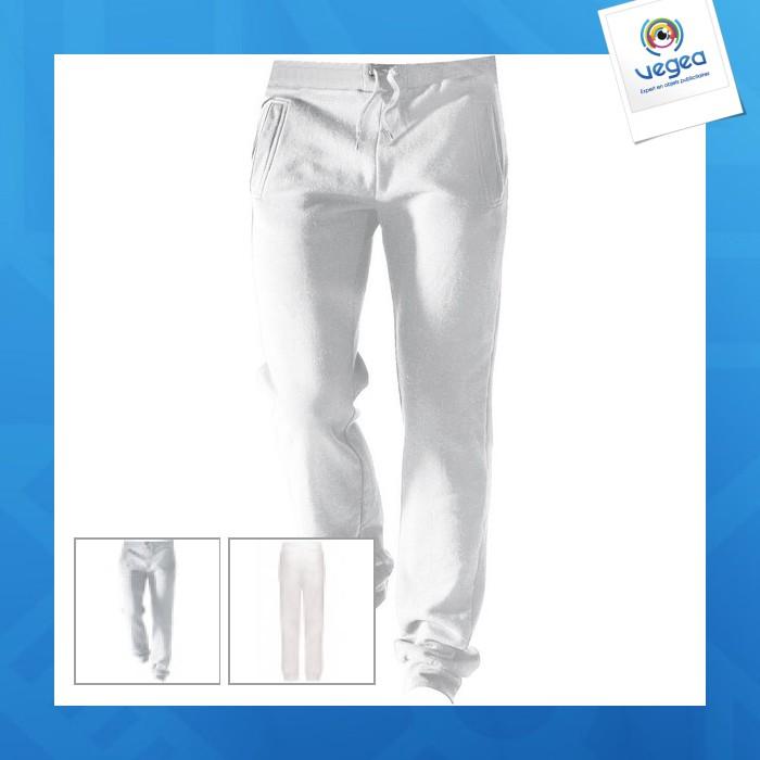 Pantalon jogging publicitaire enfant - blanc - 6/8 to 8/10