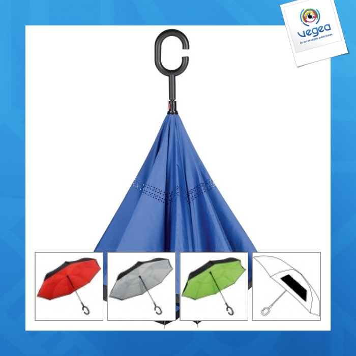 Parapluie automatique réversible