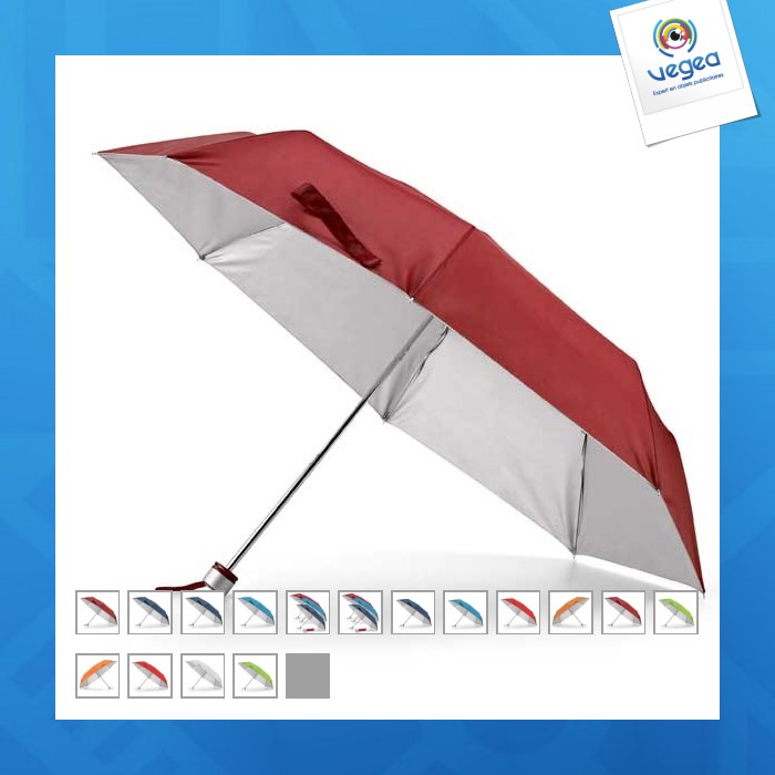 Parapluie pliable logoté 3 sections