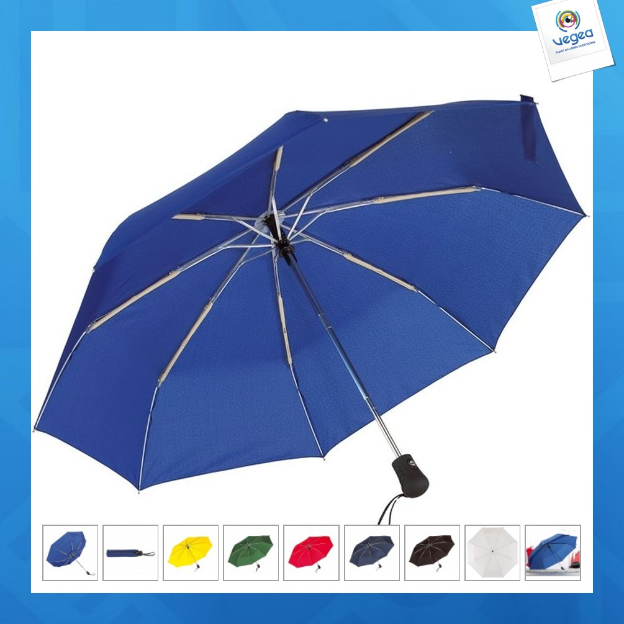 Parapluie publicitaire tempête pliable automatique