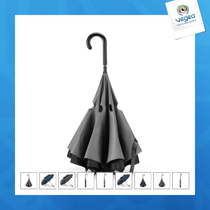Parapluie réversible personnalisable à fermeture automatique
