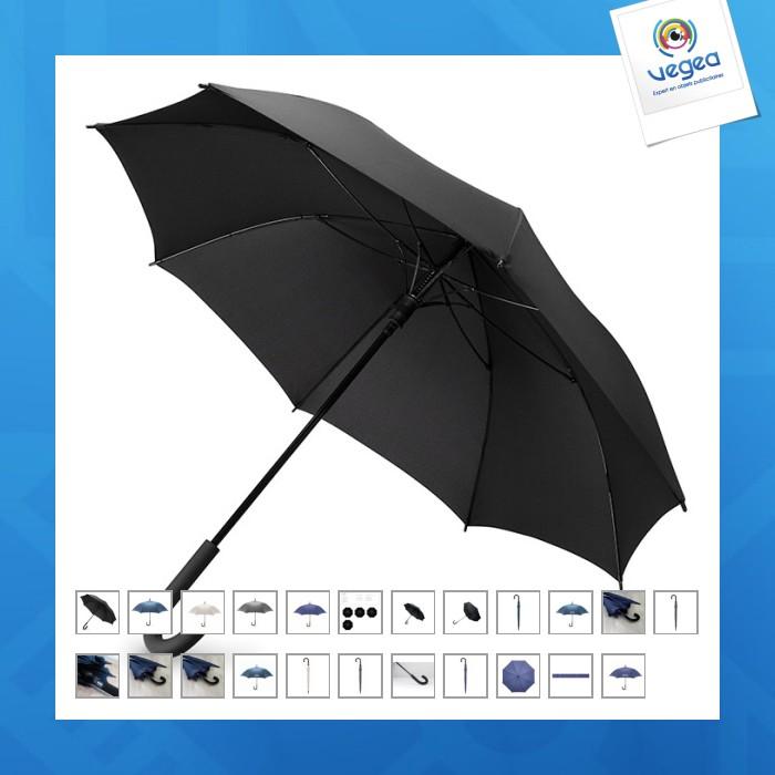 Parapluie tempête logoté ouverture auto