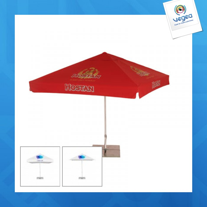 Parasol publicitaire carré 3m