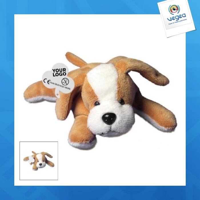 Peluche publicitaire chien