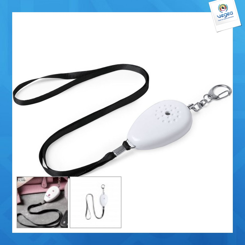Personal alarm with cord