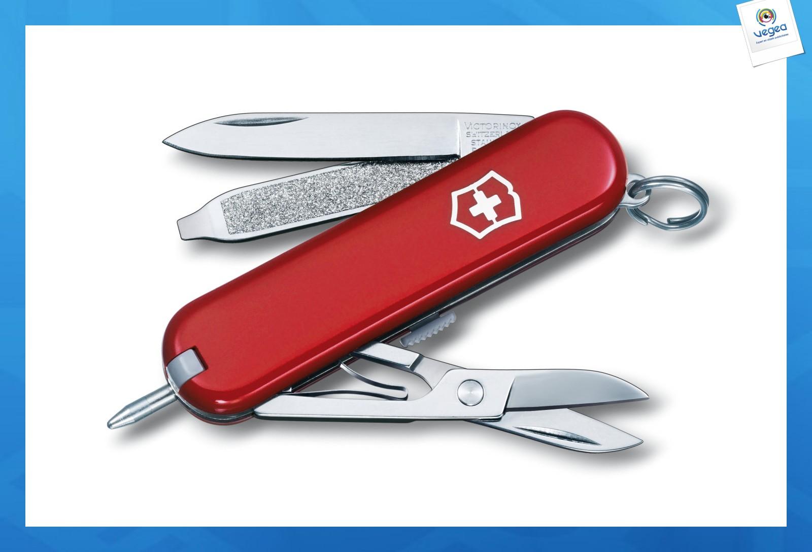 Petit couteau suisse victorinox personnalisé signature