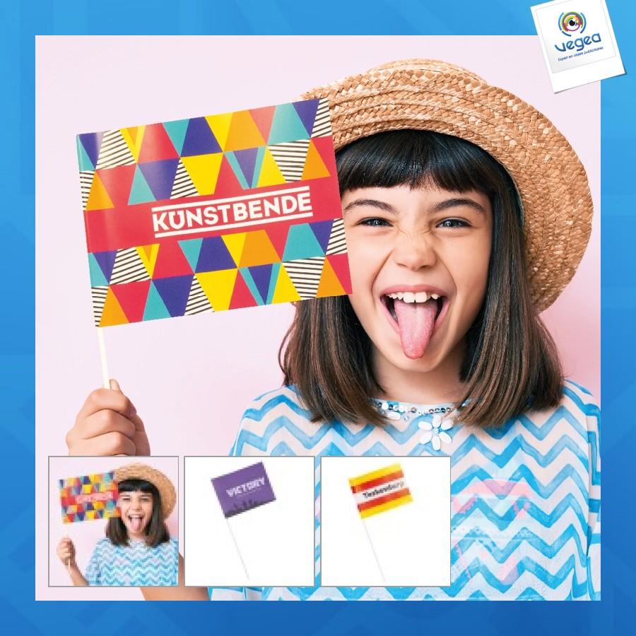 Petit drapeau en papier personnalisé a5