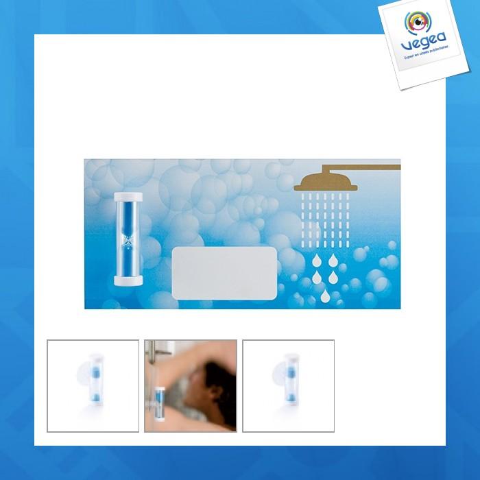 Petit sablier personnalisable de douche