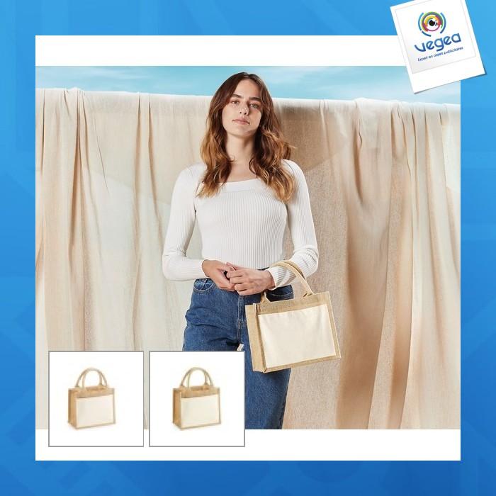 49d7c099b1 Petit sac en toile de jute personnalisé (00016V0118684) à partir de ...