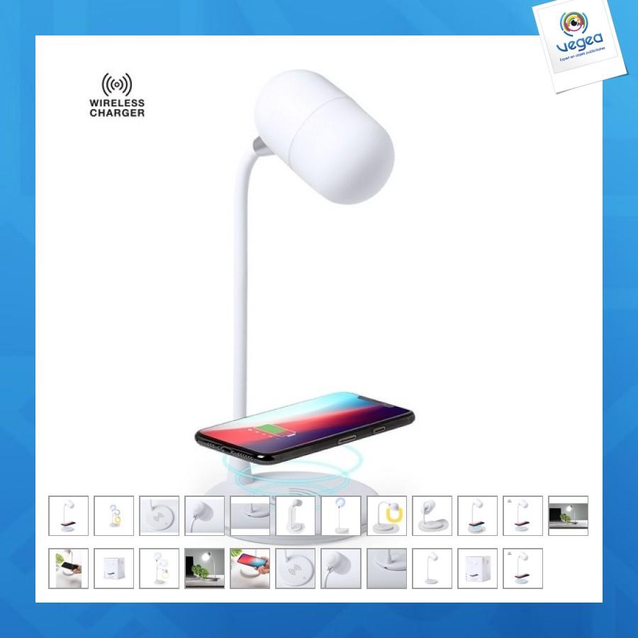 Petite lampe personnalisable avec enceinte et chargeur