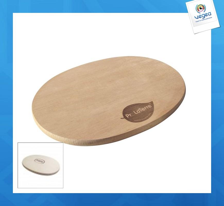Planche à découper avec logo  ovale