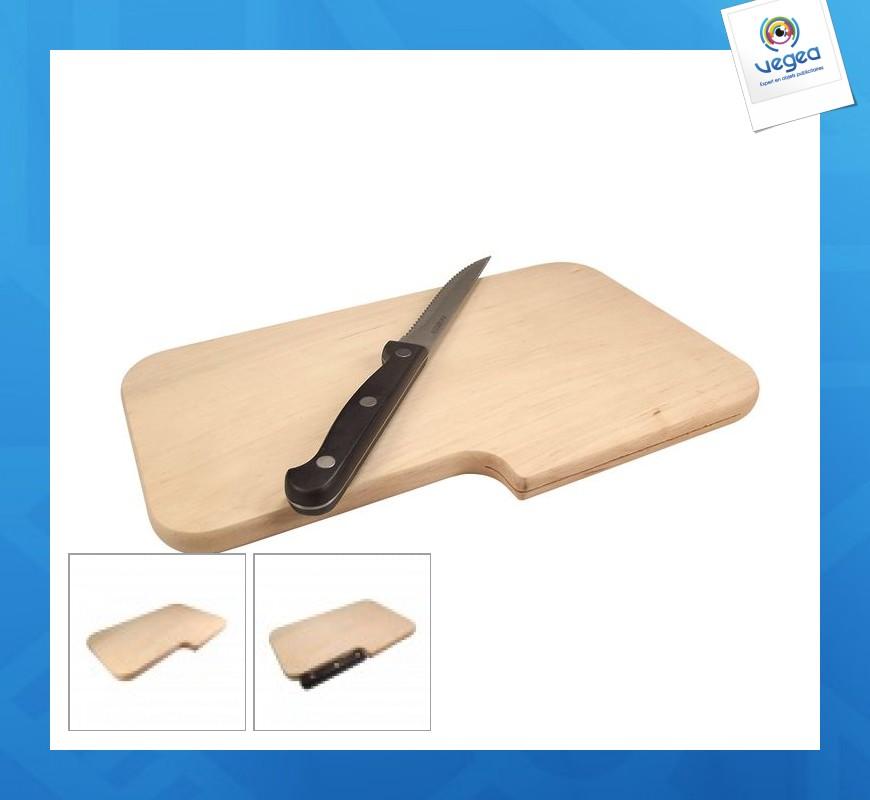 Planche avec emplacement couteau