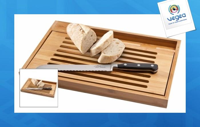 Planche et couteau à pain de paul bocuse planche à pain