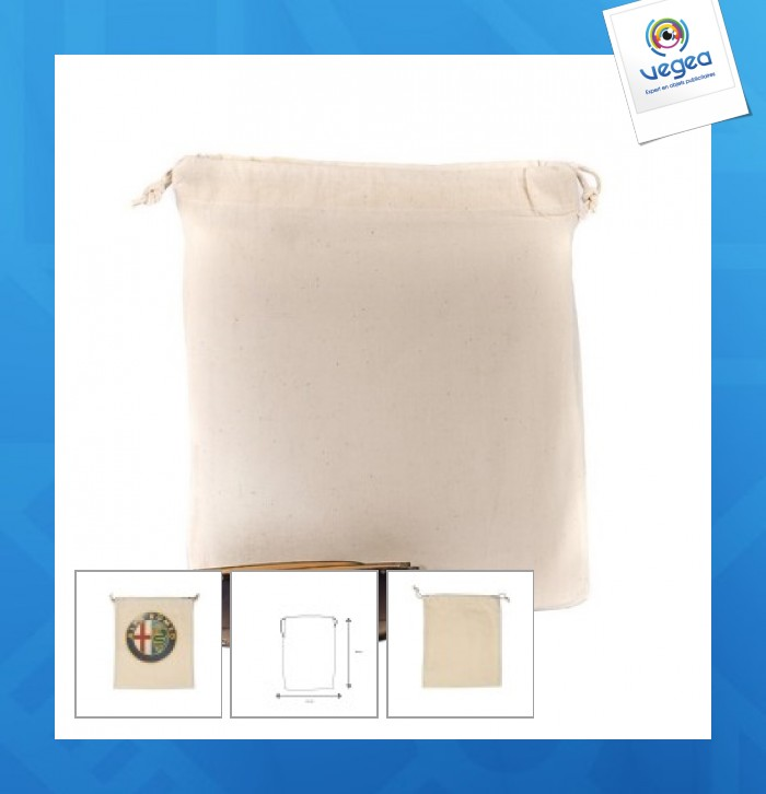 Pochon coton 25x30cm express 48h Article quadri express 48h