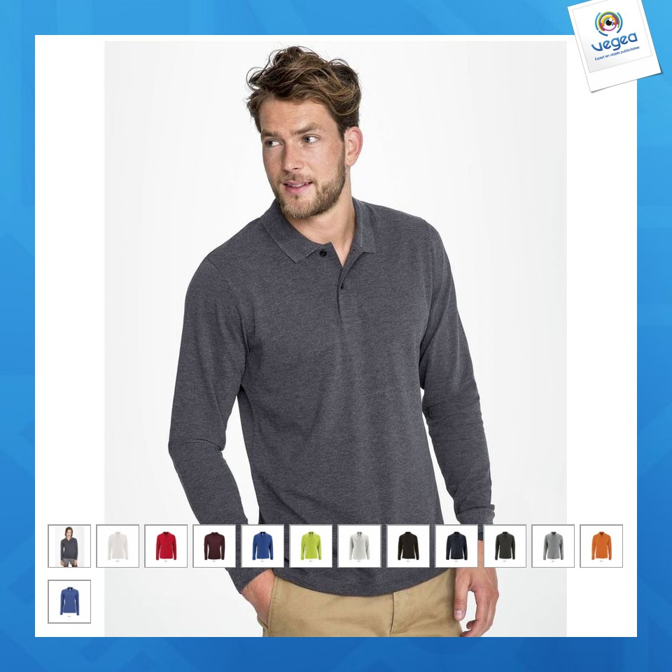 Polo manches longues personnalisable  perfect