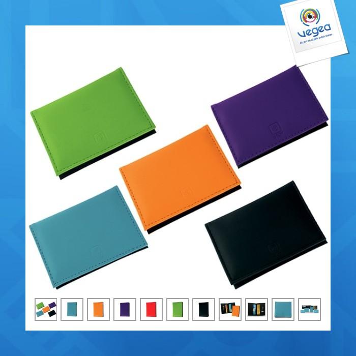 Porte carte de credit logoté avec protection stop rfid