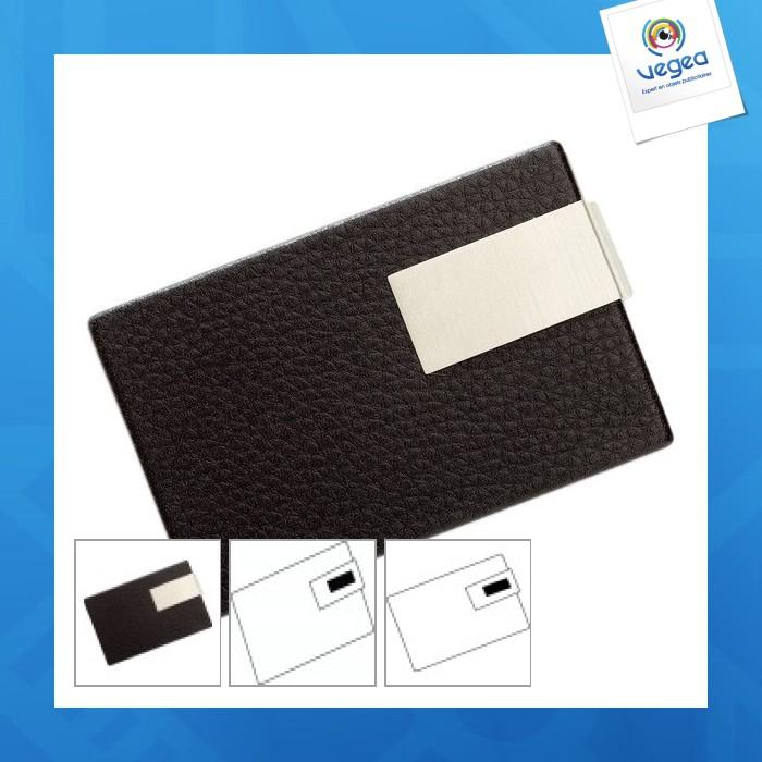 Porte cartes de visite personnalisable avec plaque (00013V0012462) à ... e5cc6b0cc28
