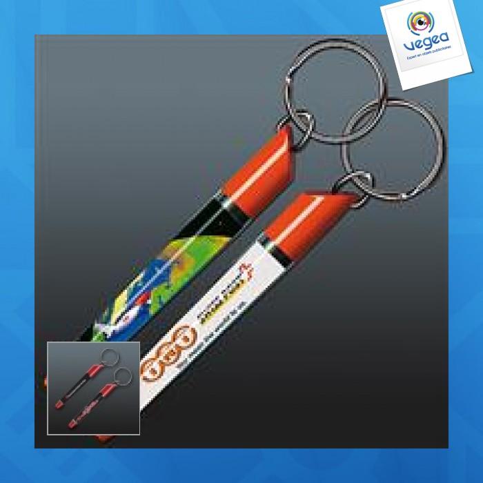 Porte-clés avec insert liquide publicitaire  flottant