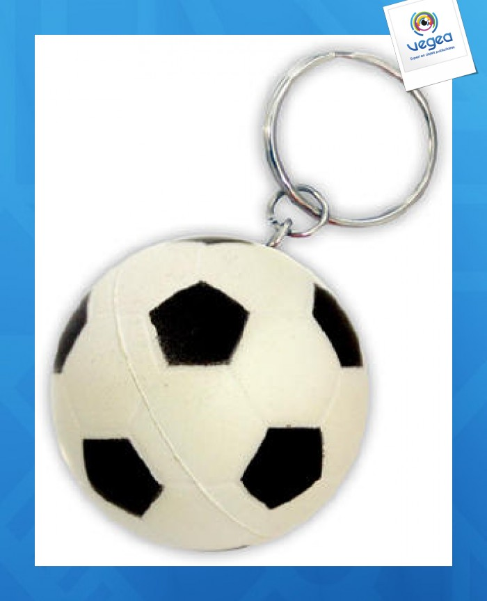 Porte-clés ballon de football personnalisable anti-stress