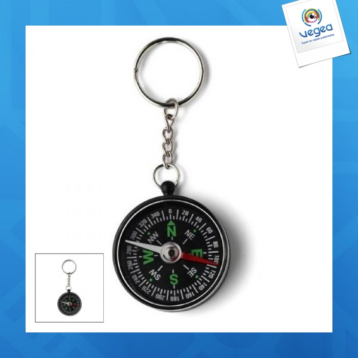 Porte-clés boussole personnalisé