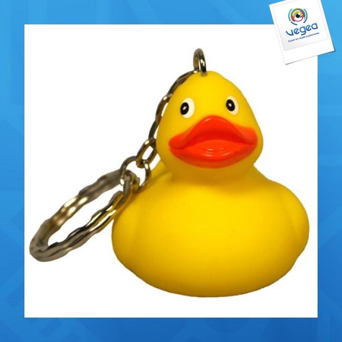 Porte-clés canard avec personnalisation  couinant
