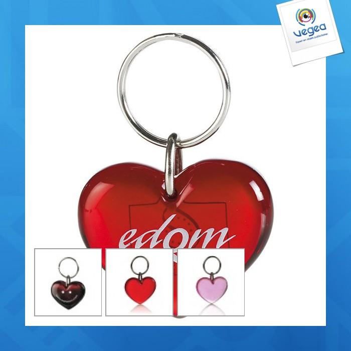 Porte-clés avec marquage  coeur