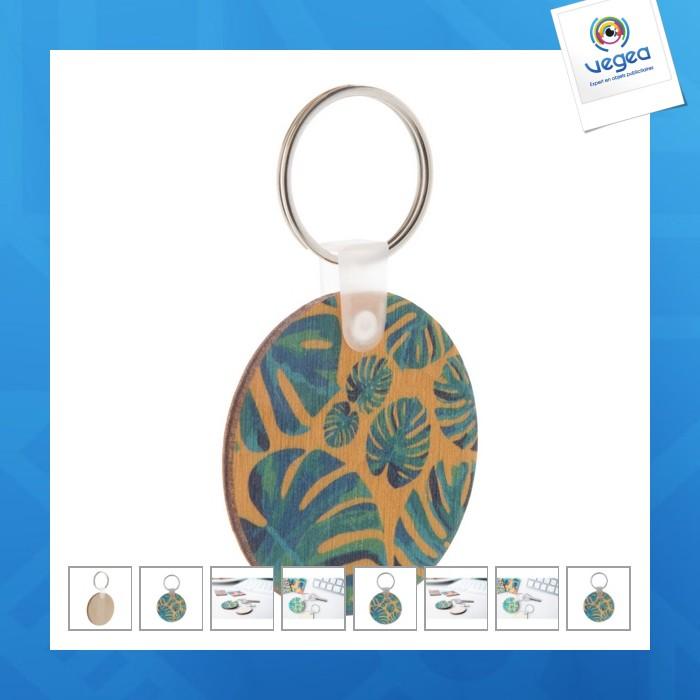 Porte-clés en bois personnalisable léger