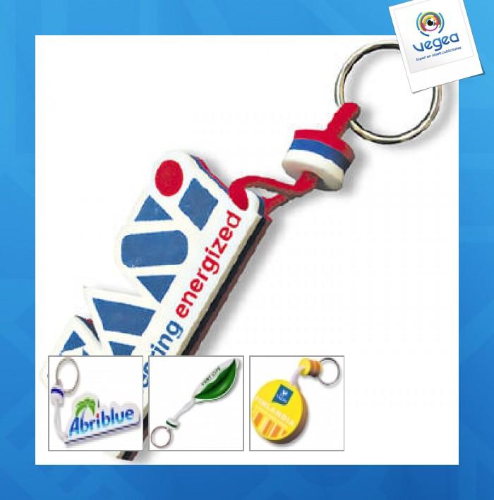 Porte-clés en mousse logoté en fabrication spéciale