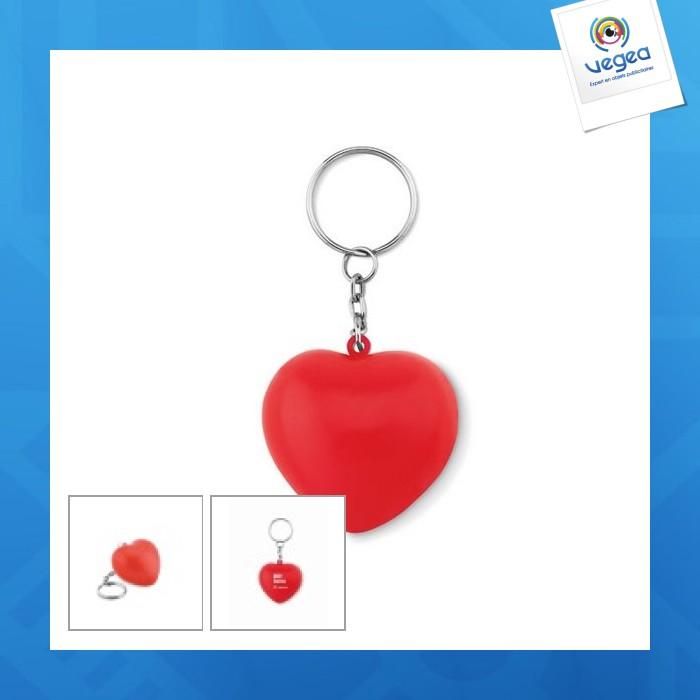 Porte-clés en pu forme cœur