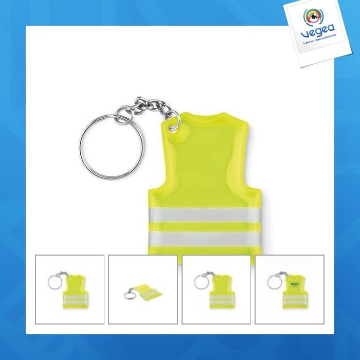 Porte-clés personnalisable gilet de sécurité