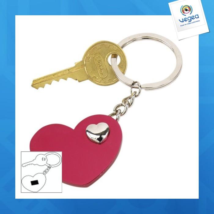 Porte-clés personnalisé  heart-in-heart