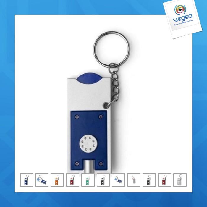 Porte-clés jeton publicitaire avec lampe
