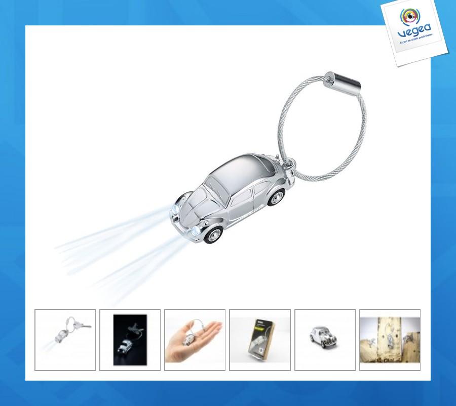 Porte-clés lampe coccinelle