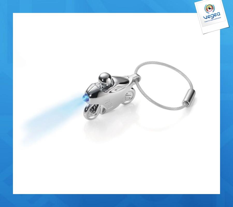 Porte-clés lampe logoté moto design