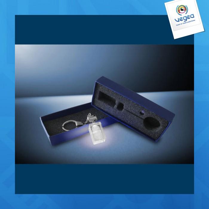 Porte-clés lumineux publicitaire personnalisé  gravure laser