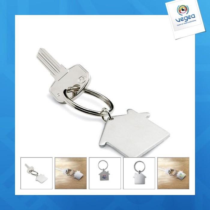Porte-clés métal maison