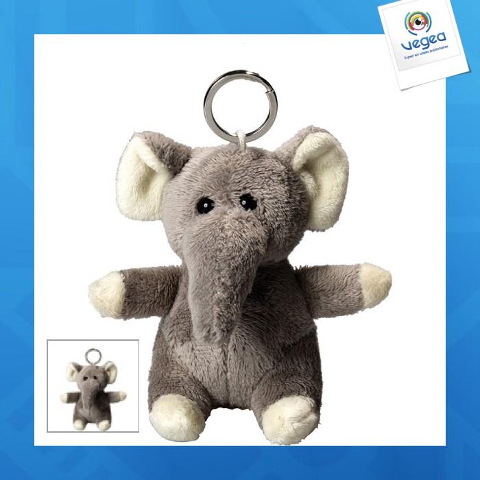 Porte clés peluche éléphant.