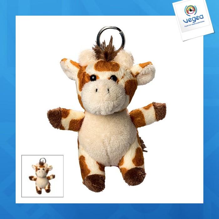 Porte clés peluche girafe