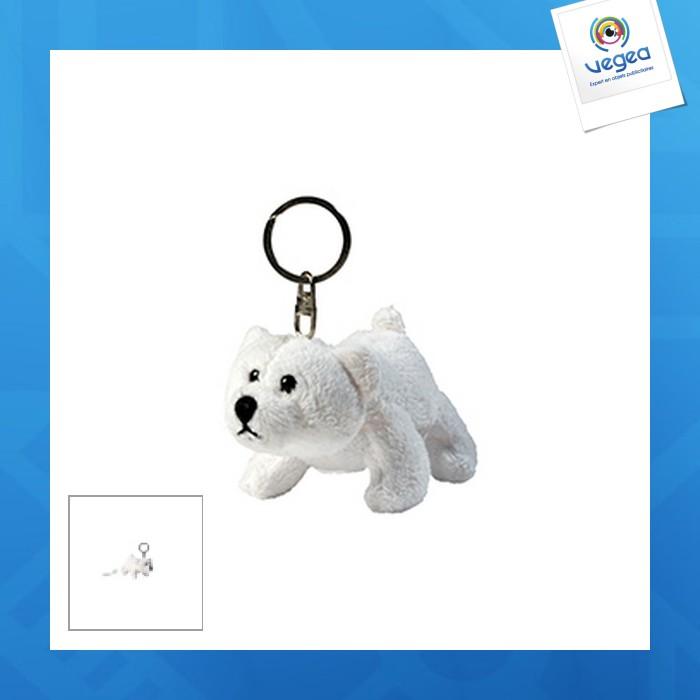 Porte clés peluche ours polaire