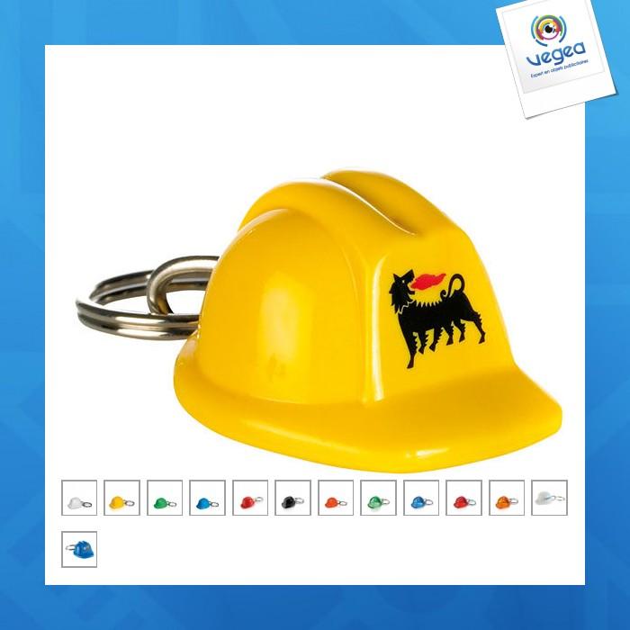 Porte-clés personnalisable casque de chantier