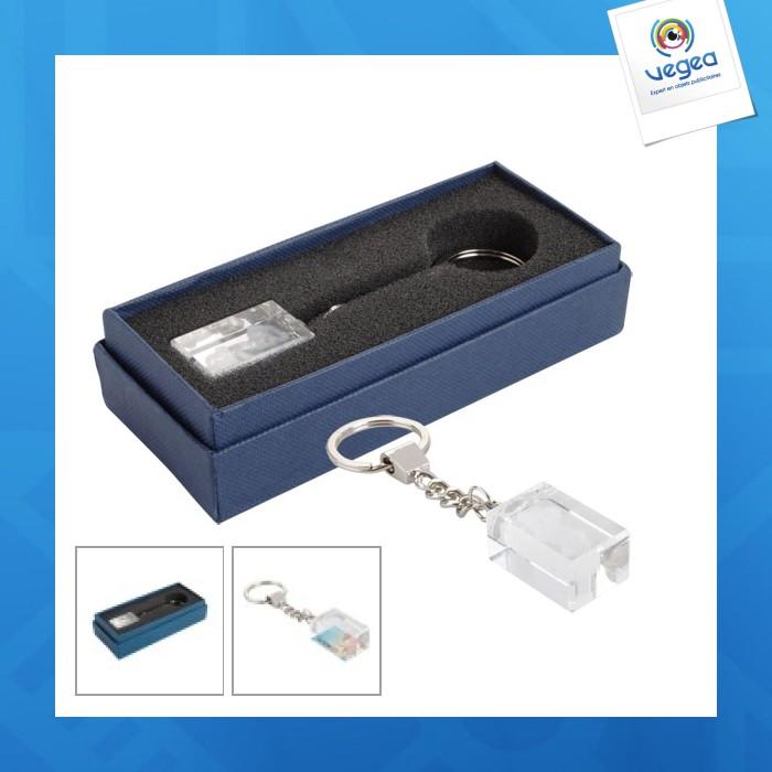 Porte-clés personnalisable en verre