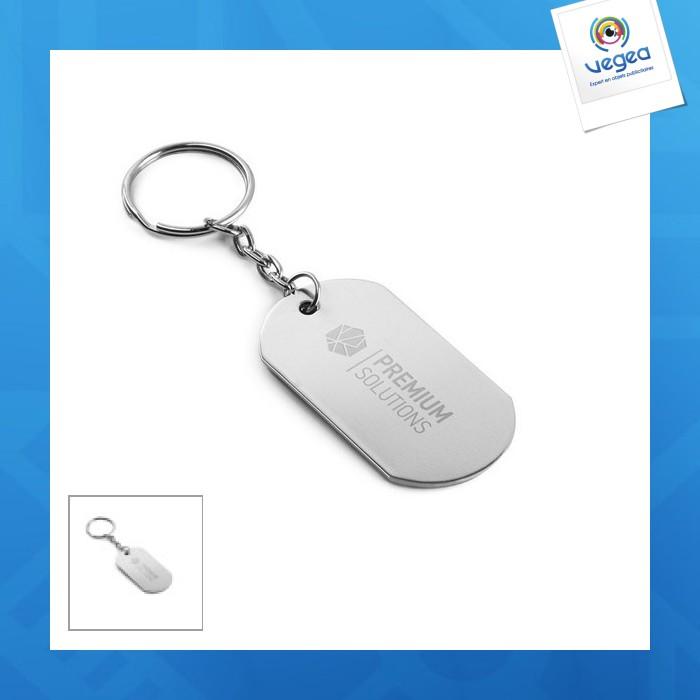 Porte-clés plaque métal