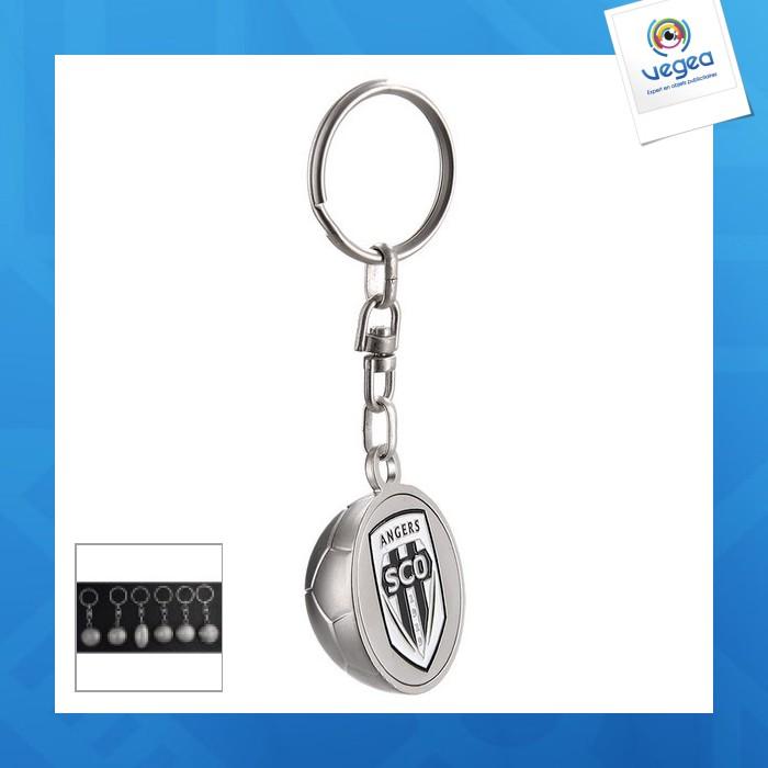 Porte-clés avec marquage  sport 3d fond plat
