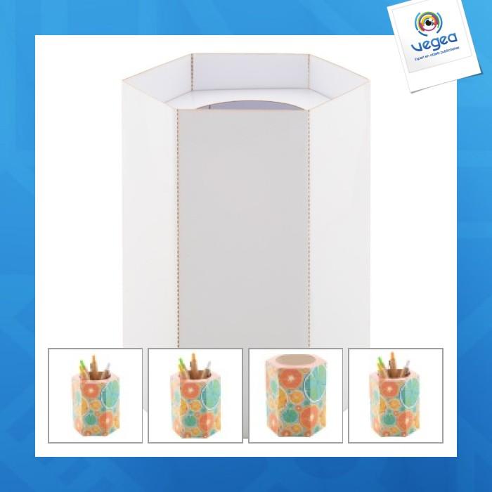 Pot à crayons avec logo  quadri