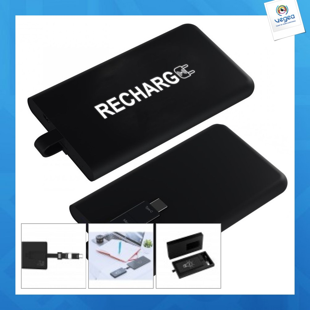 Powerbank 3000 mah with integrated cable - express 48h