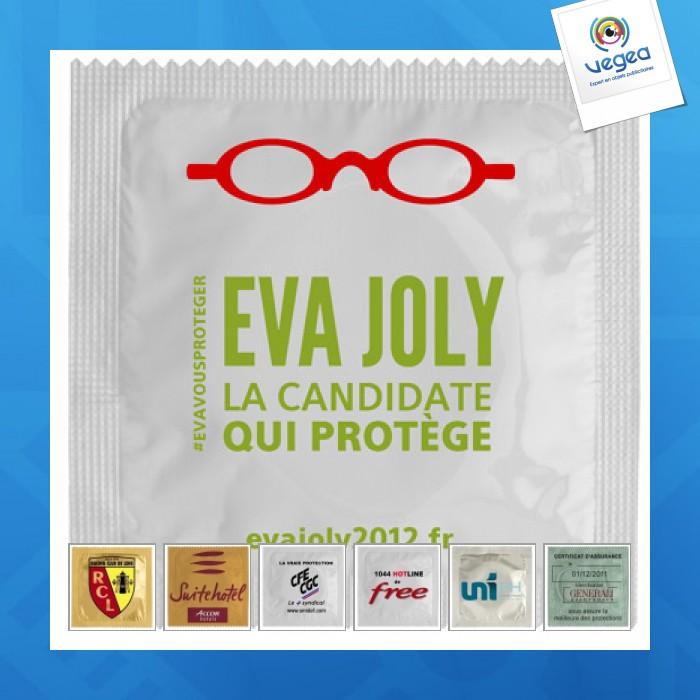 Préservatif publicitaire  avec impression directe sur emballage