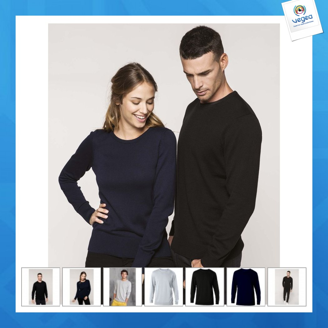 Pull publicitaire col rond kariban